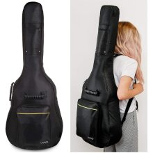 Black Padded Full Size 42 Inch Guitar Bag Carry Case Waterproof Bag