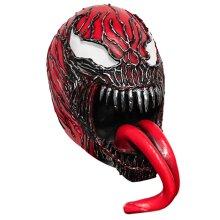 Avengers Red Venom Mask  Spider-Man Hood Latex Cosplay Props