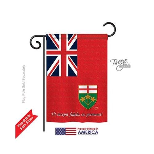 Breeze Decor 58185 Canada Provinces Ontario 2-Sided Impression Garden Flag - 13 x 18.5 in.