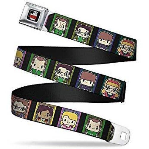 Seatbelt Belt - The Big Bang Theory - V.21 Adj 24-38' Mesh New bbta-wbbt024