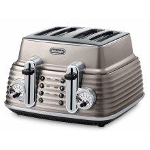 De'Longhi Scultura CTZ4003BG  4-slice Toaster - Champagne - Refurbished