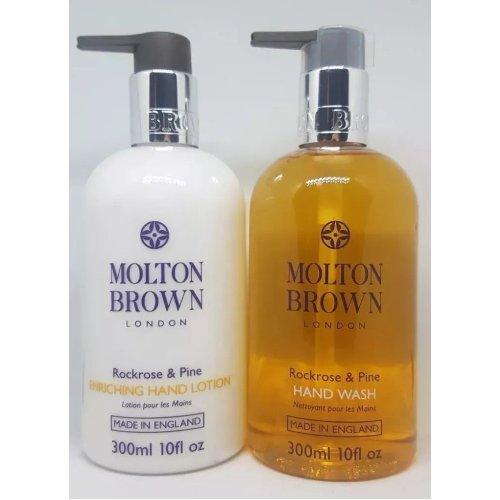 Molton Brown Rockrose & Pine Hand Wash & Enriching Hand Lotion 300ml