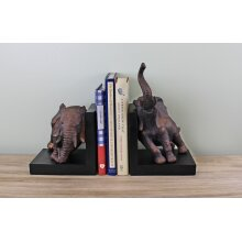 Bookends Decorative Elephant Design Vintage Style Bronze Ornament
