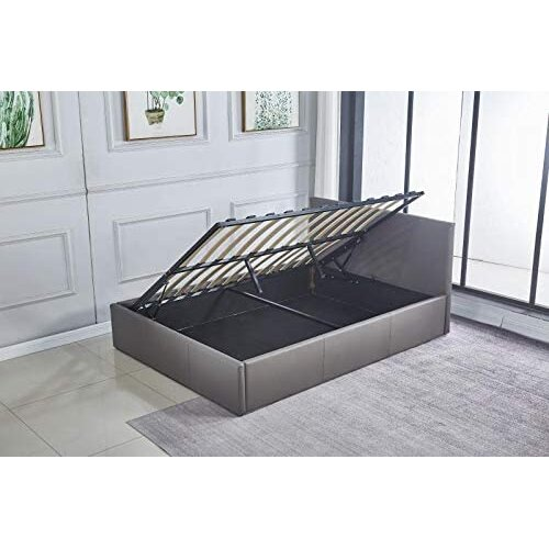 (4ft Small Double) Grey ottoman storage bed side lift 4ft6