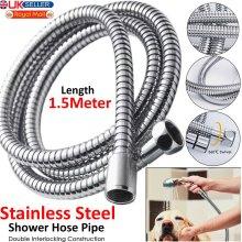 Universal Stainless Steel Chrom Standard 1.5M Flexible Bathroom Shower Hose Pipe