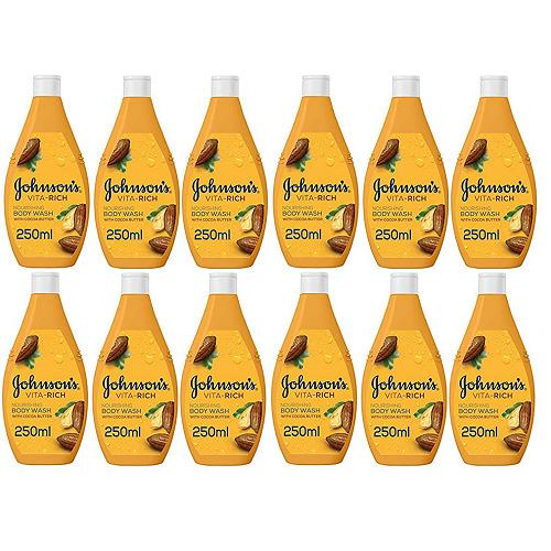 Johnson's Vita-Rich Nourishing Body Wash With Cocoa Butter 12x250ml IMPORT STOCK