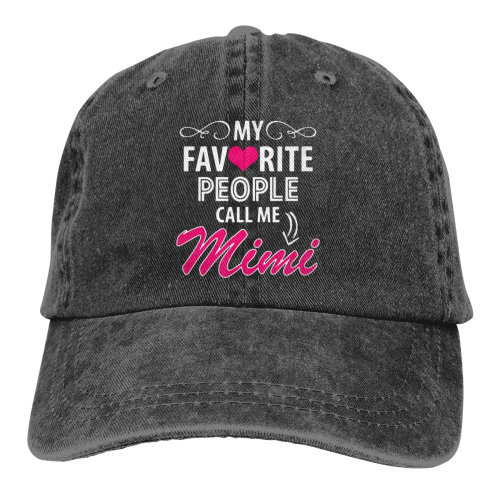 My Favorite People Call Me Mimi Denim Baseball Caps