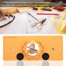 Concealed Hinge Hole Jig Guide + Forstner Drill Bit For Cabinet