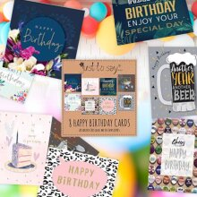 Happy Birthday Cards Special Greeting Multi-Pack Assorted (Pack Of 8)