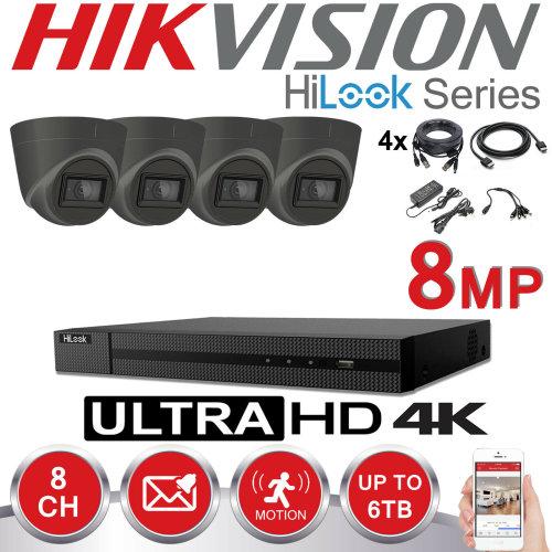 HIKVISION 8MP CCTV 4K UHD DVR 8CH OUTDOOR 4X VIVID HD CAMERA KIT(1TB)