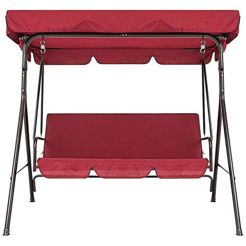 (As Seen on Image) Garden Chair, Dustproof 3-Seater Outdoor Cover set only for  Patio Swings