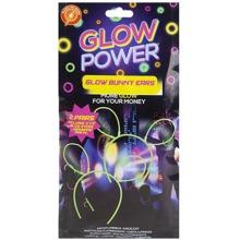 Glow Power - Glow in the Dark Bunny Rabbit Ears - 2 Pair Pack