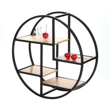 Round shelf wall unique home decoration antique style display cabinet