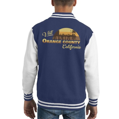 Visit Orange County Retro California Kid's Varsity Jacket
