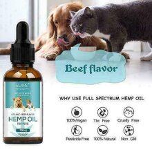 Hemp Oil for Pet Dogs and Cats Anxiety Relief, Calming Joint Health