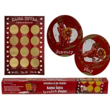 Kama Sutra Sex Position Monthly Bucket List Scratch & Reveal Poster Scratchcard