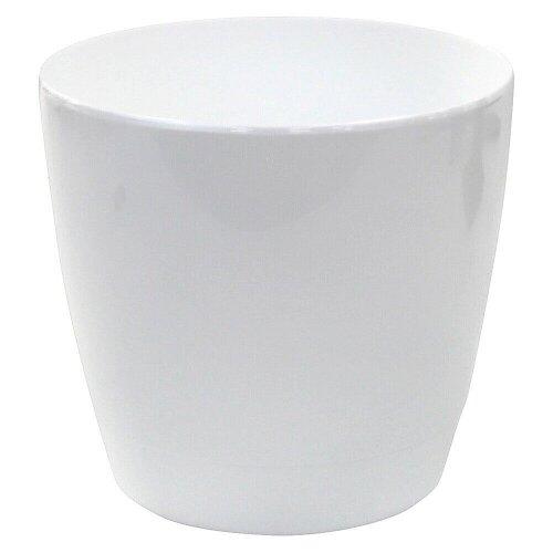 Indoor / Outdoor Round Medium Plant Pots 18cm Planters White