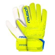 Reusch Fit Control RG Resist Grip Open Cuff Junior Kids Goalkeeper Glove Lime