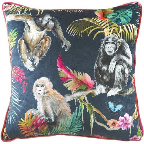 Evans Lichfield Jungle Monkey Cushion Cover