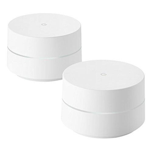 Google Mesh Wi-Fi Router Whole Home System, White, Pack of 2 - Refurbished