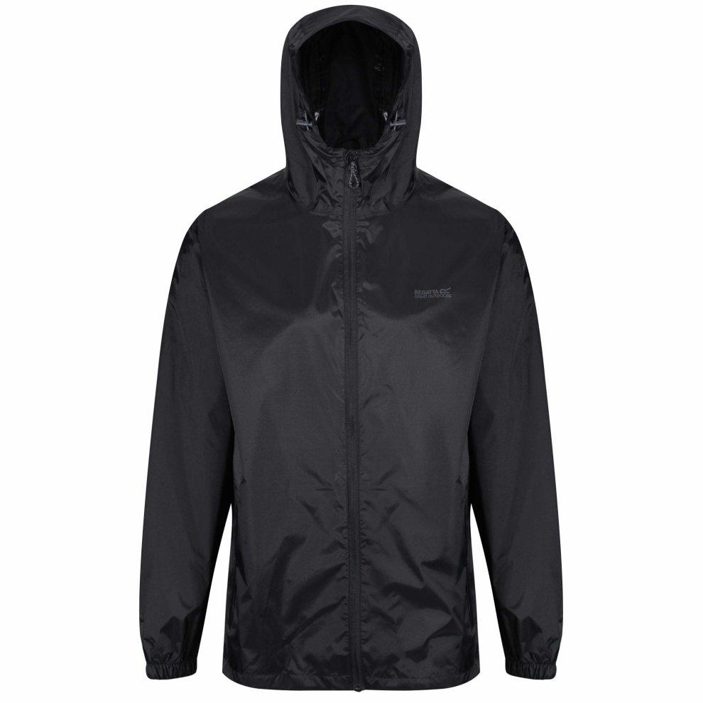 Regatta Men/'s Pack It III Waterproof Shell Jacket Black X-Large