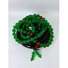 Natural Chalcedony Jade 108 Buddhist Prayer Beads