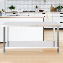 Stainless Steel Working Table 150x60x80cm
