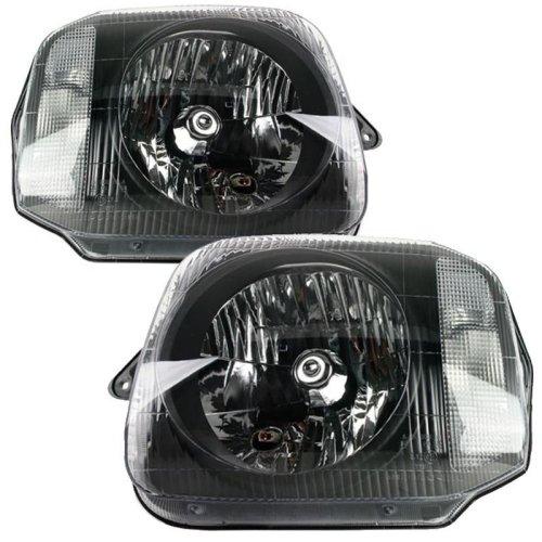 Suzuki Jimny 1998-2016 Black Headlights Headlamps Pair Left & Right