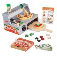 Melissa & Doug Top & Bake Pizza Counter Play Set   Pretend Play   Play Food   3+   Gift for Boy or Girl