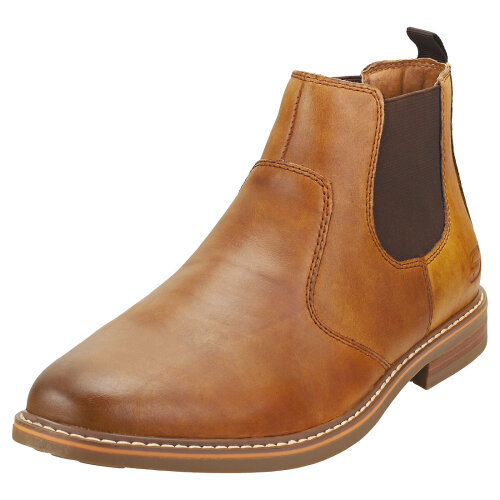 Skechers Bregman Morago Mens Chelsea Boots in Tan