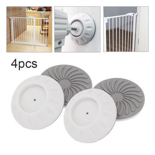 Wall Guard Pads 4 Pack of Pressure Fit Stair Gate Wall Saver Baby Cup