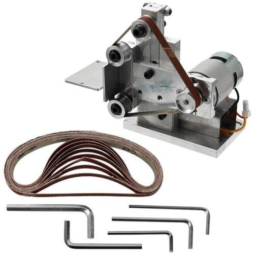 (As Seen on Image) Multifunctional Grinder, Mini Electric Belt Sander, Diy Polishing Grinding Machine, Cutter Edges Sharpener Belt,