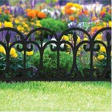Black Victorian Set 4 Fencing Effect Garden Lawn Border Flowerbed Path