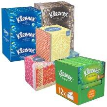 Kleenex Facial Tissues, 12 Boxes