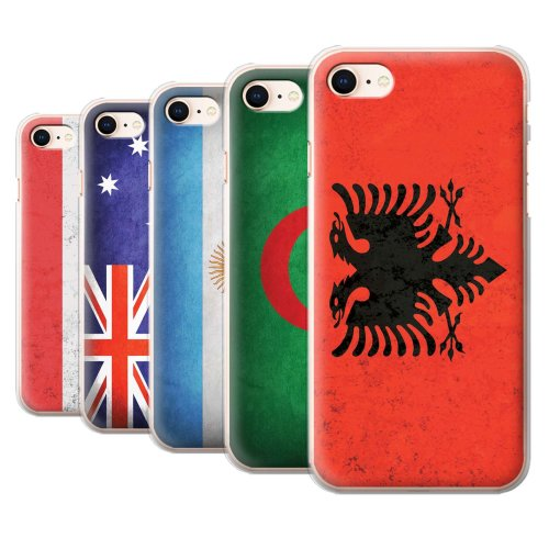 Flags Apple iPhone 8 Phone Case Transparent Clear Ultra Slim Thin Hard Back Cover for Apple iPhone 8