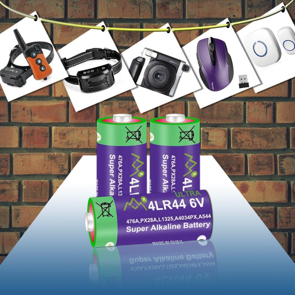 10 Pack 4LR44 6V Battery PX28A 476A A544 K28A L1325 Battery 6V Alkaline Free Mercury Batteries for Dog Collars