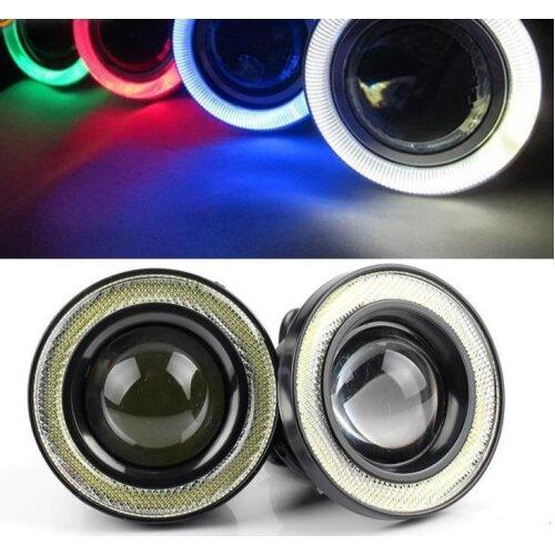 Universal COB LED DRL Driving Lights Angel Eyes Fog Lamp