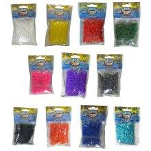 Official Alpha Rainbow Loom Rubber Band Refills 500, Grey 500