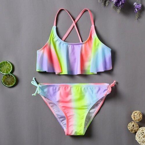 Girls Swimsuit Pineapple Children,s Swimwear Bathing Swimsuit