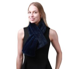 Super Soft Stylish Both Side Fluffy Faux Fur Collar Scarf