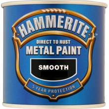 Hammerite Direct to Rust Metal Paint Smooth Finish Dark Blue 5L