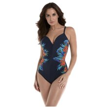 Miraclesuit 6516958 Women's Samoan Sunset Temptation Midnight Blue Floral Underwired Shaping Swimsuit