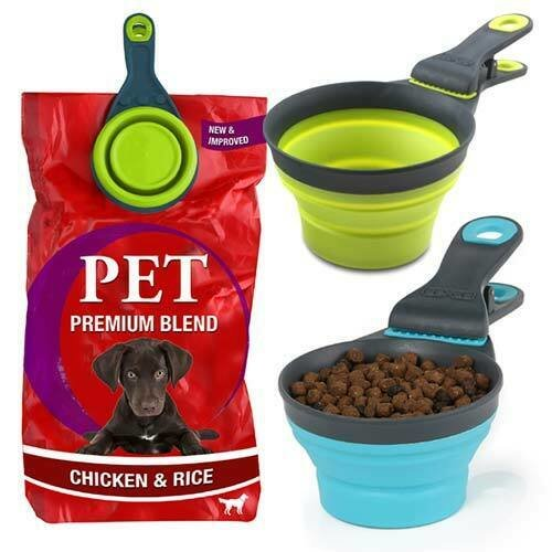 3 in 1 Pet Food Scoop Measuring Cup & Bag Sealing Clip Dog Scoop Spoon
