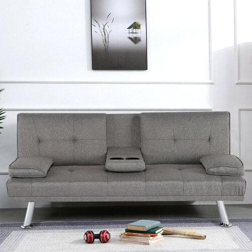 GREY 3 Seater Modern Luxury Design Sofa Bed recliner