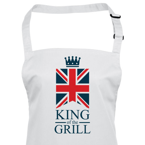 Funny Mens BBQ Apron King of the Grill British Union Jack