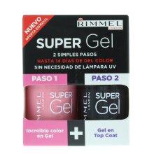 Rimmel Super Gel Gift Set 12Ml Angel Wing + 12Ml Top Coat