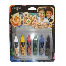 Chroma 6 Body Painting colouring crayons - 6 colours