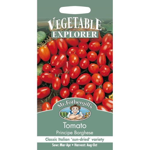 Mr Fothergills - Pictorial Packet - Vegetable - Tomato Plum Principe Borghese - 75 Seeds