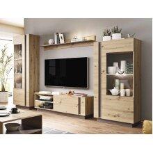 Artisan Oak & Grey Living Room Furniture Set ARCO