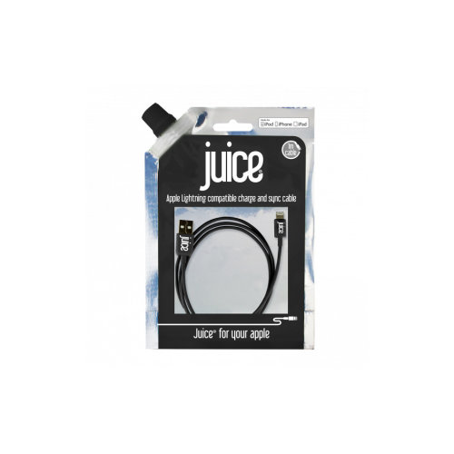 (1 Metre, Black) Juice Lightning USB Cable | Apple Certified Charger